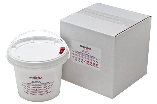 SUPPLY-069 VEOLIA RECYCLEPAK 1 GAL DRY CELL BATTERY RECYCLING PAIL 09492212197