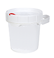 CASE OF (10) SUPPLY-211- SUPPLYPAK 1/2-GAL UN RATED POLY PAIL