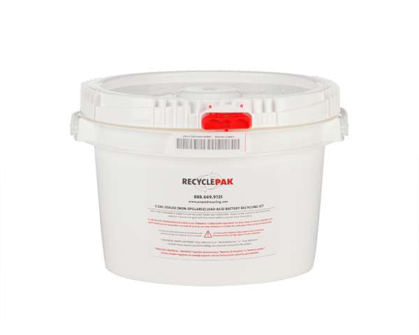 SUPPLY-150- 2 GAL SEALED (NON-SPILLABLE) LEAD ACID BATTERY RECYCLING PAIL